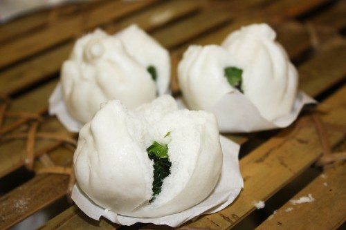Steamed Bok Choy Buns